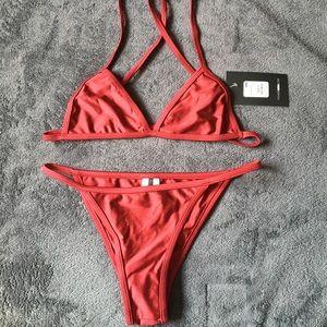 Itty Bitty Bikini - Deep Red